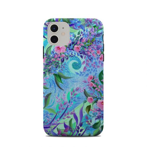 Lavender Flowers iPhone 11 Clip Case