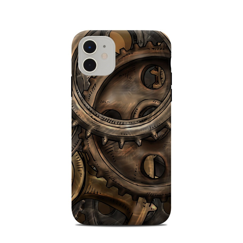 iPhone 11 Clip Case design of Metal, Auto part, Bronze, Brass, Copper with black, red, green, gray colors