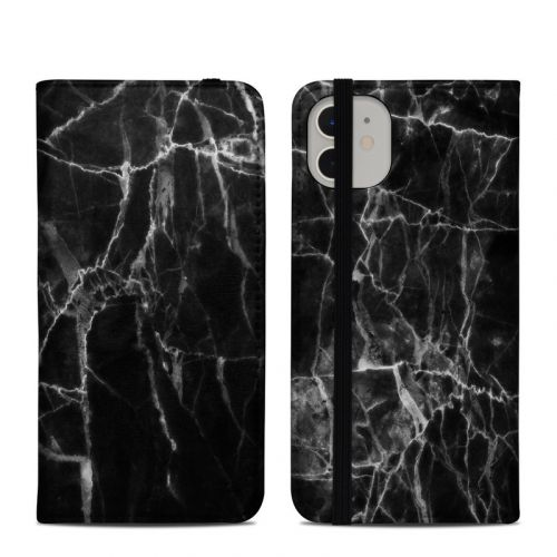 Black Marble iPhone 11 Folio Case