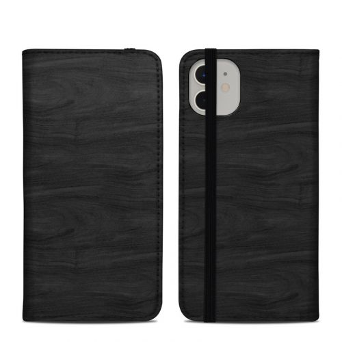 Black Woodgrain iPhone 11 Folio Case