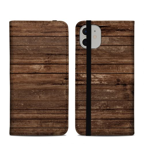 Stripped Wood iPhone 11 Folio Case