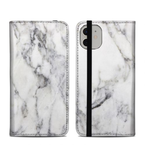 White Marble iPhone 11 Folio Case