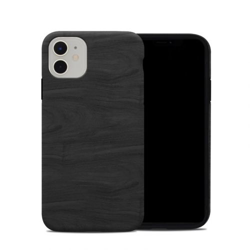 Black Woodgrain iPhone 11 Hybrid Case