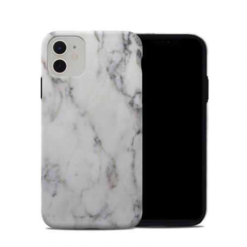 White Marble iPhone 11 Hybrid Case