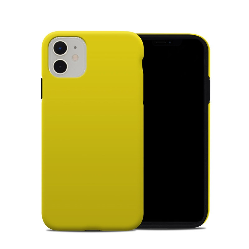 iPhone 11 Hybrid Case design of Green, Yellow, Orange, Text, Font with yellow colors