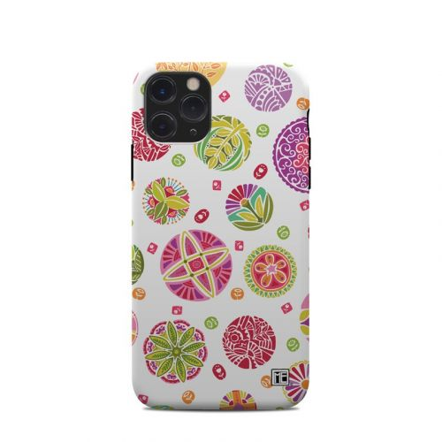Round Flowers iPhone 11 Pro Clip Case