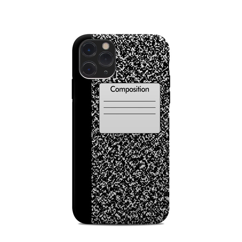 iPhone 11 Pro Clip Case design of Text, Font, Line, Pattern, Black-and-white, Illustration with black, gray, white colors