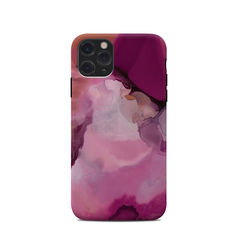 iPhone 11 Pro Clip Case design of Purple, Pink, Watercolor paint, Magenta, Illustration, Art with white, red, pink, white colors