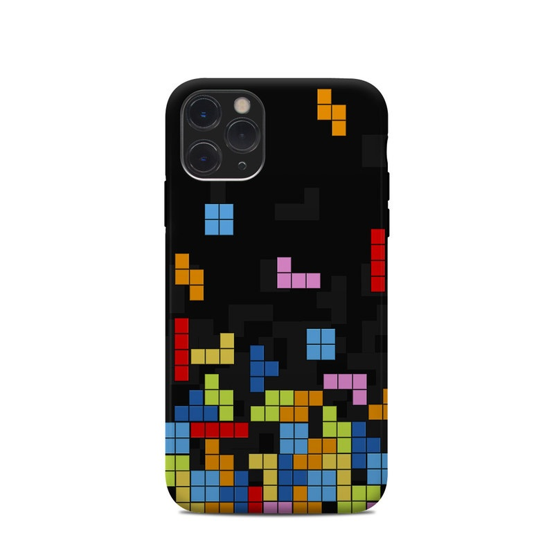 iPhone 11 Pro Clip Case design of Pattern, Symmetry, Font, Design, Graphic design, Line, Colorfulness, Magenta, Square, Graphics with black, green, blue, orange, red colors