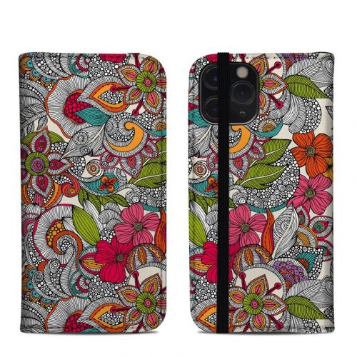 Doodles Color iPhone 11 Pro Folio Case