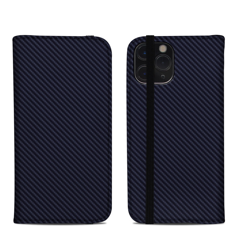 iPhone 11 Pro Folio Case design of Green, Black, Blue, Pattern, Turquoise, Carbon, Textile, Metal, Mesh, Woven fabric with black colors
