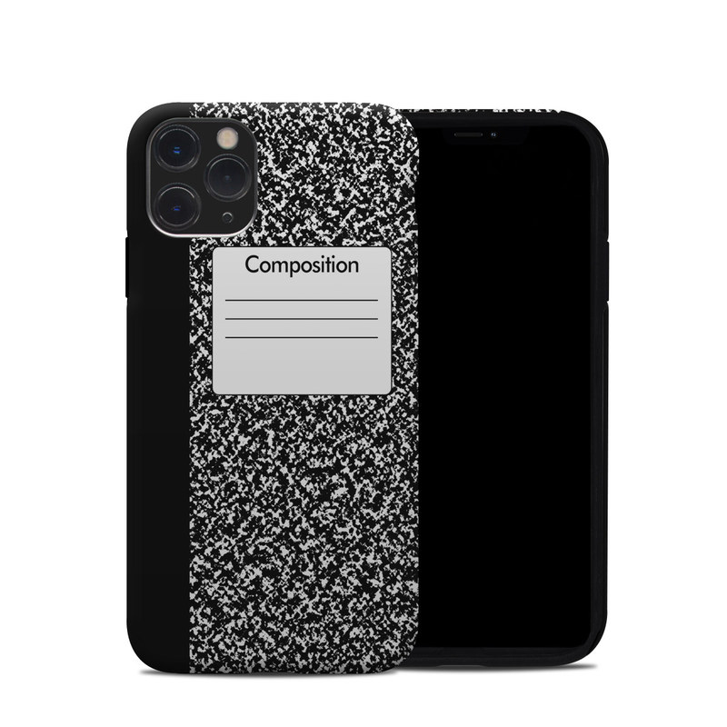 iPhone 11 Pro Hybrid Case design of Text, Font, Line, Pattern, Black-and-white, Illustration with black, gray, white colors