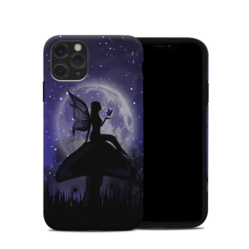 iPhone 11 Pro Hybrid Case design of Purple, Sky, Moonlight, Cg artwork, Fictional character, Darkness, Night, Illustration, Space, Star with black, blue, gray, purple colors