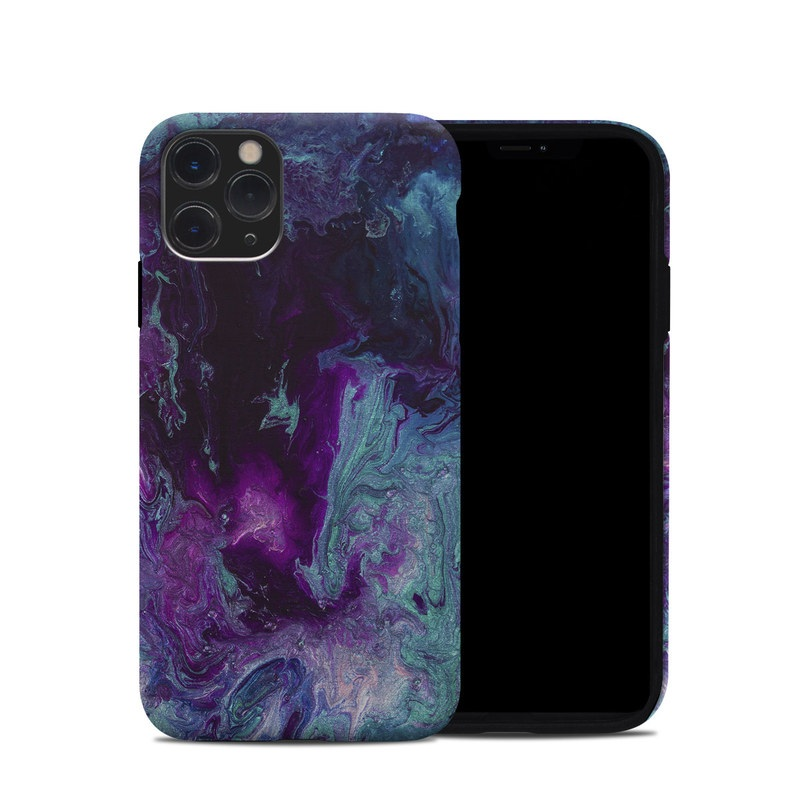 iPhone 11 Pro Hybrid Case design of Blue, Purple, Violet, Water, Turquoise, Aqua, Pink, Magenta, Teal, Electric blue with blue, purple, black colors