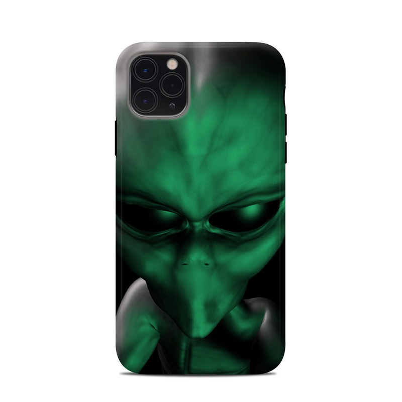 iPhone 11 Pro Max Clip Case design of Green, Head, Fictional character, Close-up, Art, Action figure, Supervillain with black, green colors