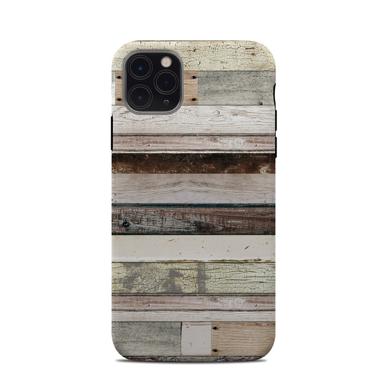 iPhone 11 Pro Max Clip Case design of Wood, Wall, Plank, Line, Lumber, Wood stain, Beige, Parallel, Hardwood, Pattern with brown, white, gray, yellow colors