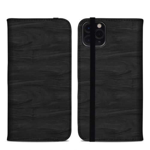 Black Woodgrain iPhone 11 Pro Max Folio Case