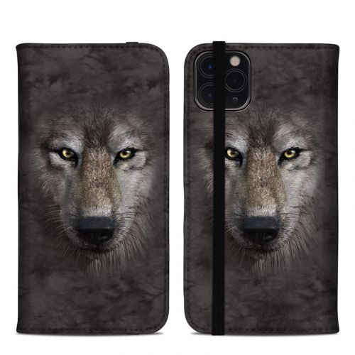 Grey Wolf iPhone 11 Pro Max Folio Case