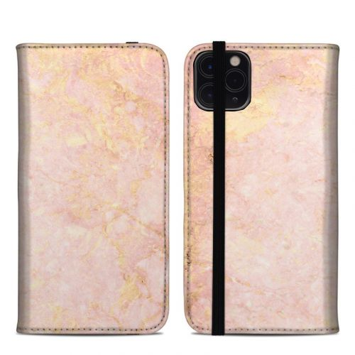 Rose Gold Marble iPhone 11 Pro Max Folio Case