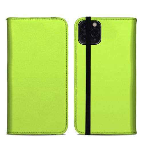 Solid State Lime iPhone 11 Pro Max Folio Case