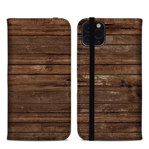 Stripped Wood iPhone 11 Pro Max Folio Case