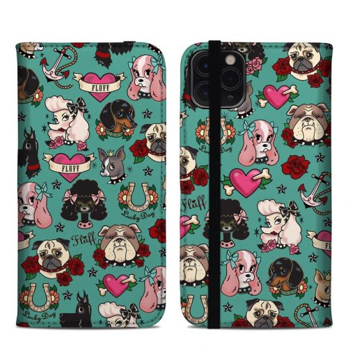 Tattoo Dogs iPhone 11 Pro Max Folio Case
