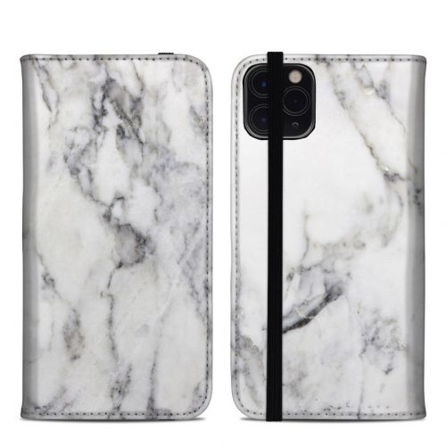 White Marble iPhone 11 Pro Max Folio Case