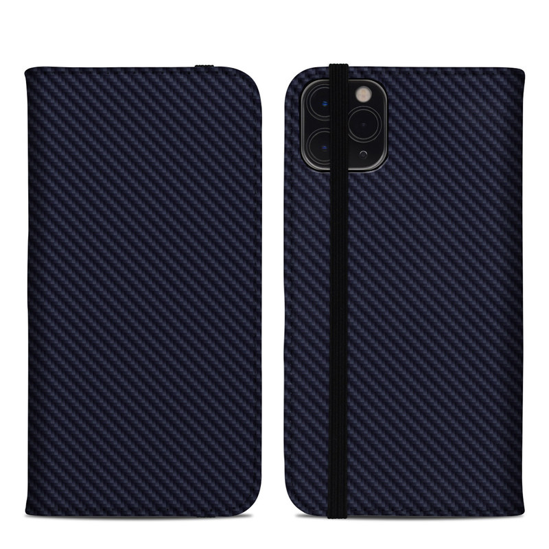 iPhone 11 Pro Max Folio Case design of Green, Black, Blue, Pattern, Turquoise, Carbon, Textile, Metal, Mesh, Woven fabric with black colors