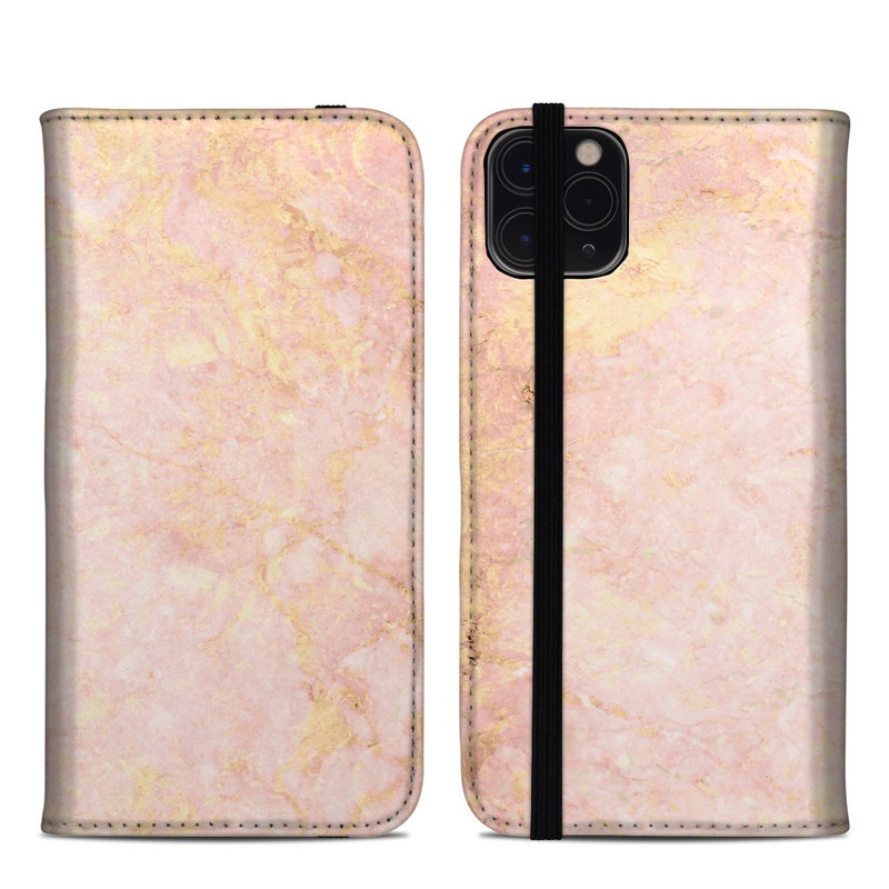 Rose Gold Marble Iphone 11 Pro Max Folio Case Istyles