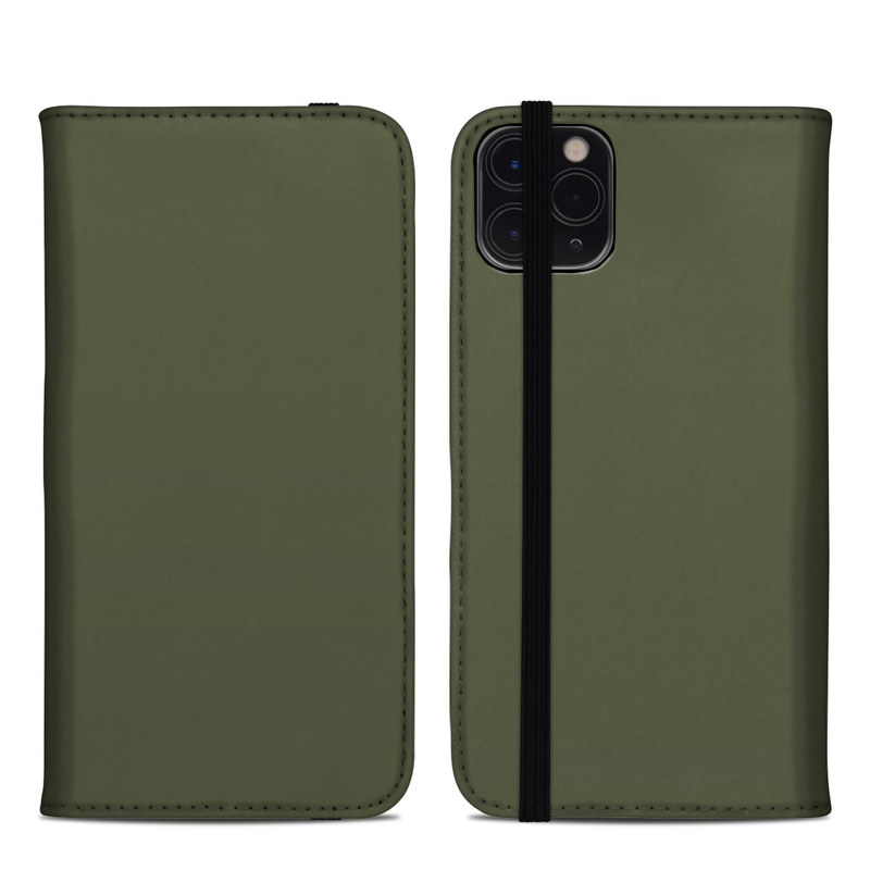 iPhone 11 Pro Max Folio Case design of Green, Brown, Text, Yellow, Grass, Font, Pattern, Beige with green colors