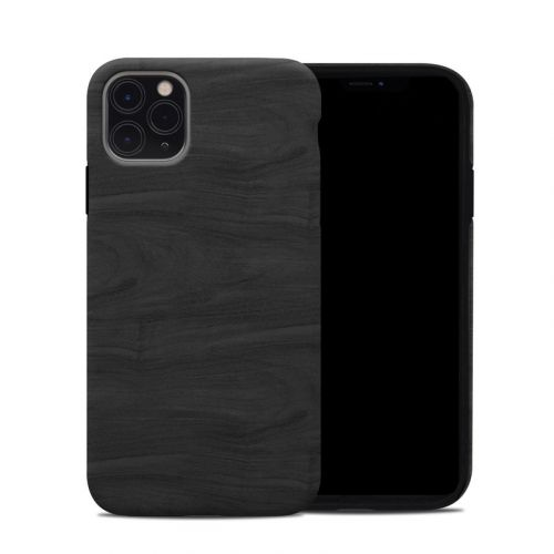 Black Woodgrain iPhone 11 Pro Max Hybrid Case