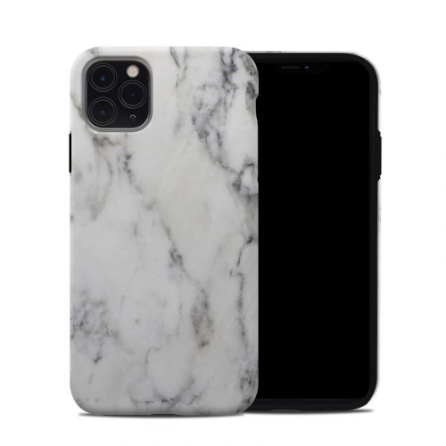 White Marble iPhone 11 Pro Max Hybrid Case