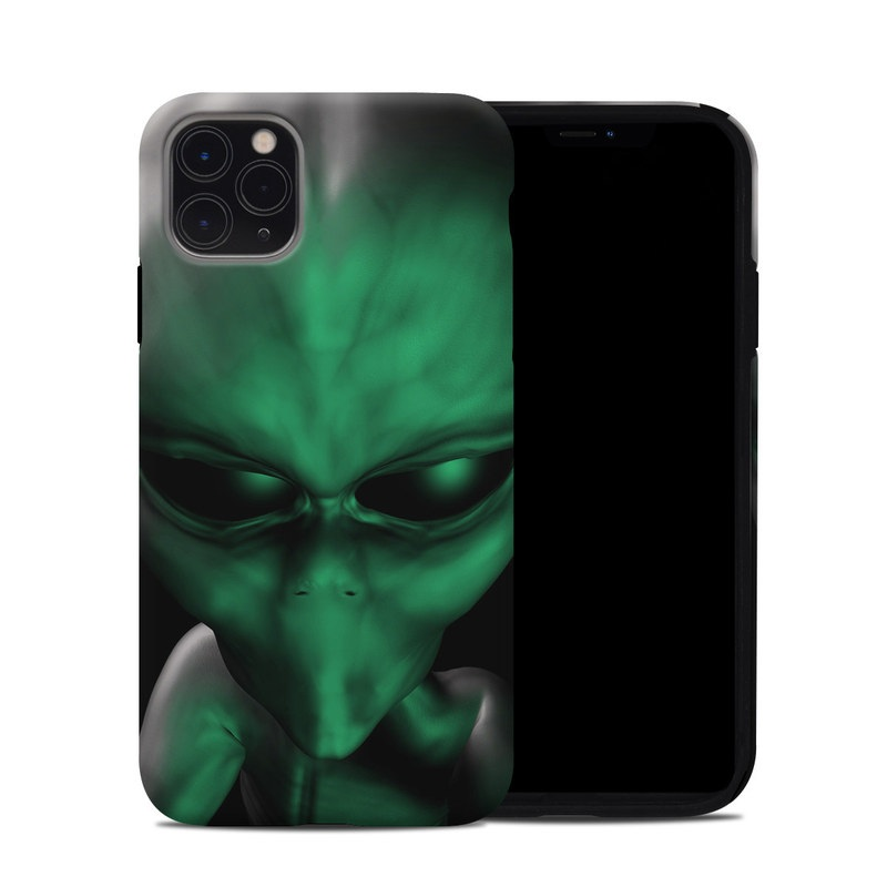 iPhone 11 Pro Max Hybrid Case design of Green, Head, Fictional character, Close-up, Art, Action figure, Supervillain with black, green colors