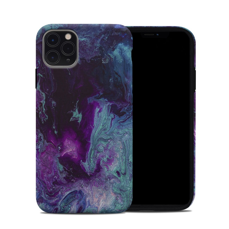 iPhone 11 Pro Max Hybrid Case design of Blue, Purple, Violet, Water, Turquoise, Aqua, Pink, Magenta, Teal, Electric blue with blue, purple, black colors