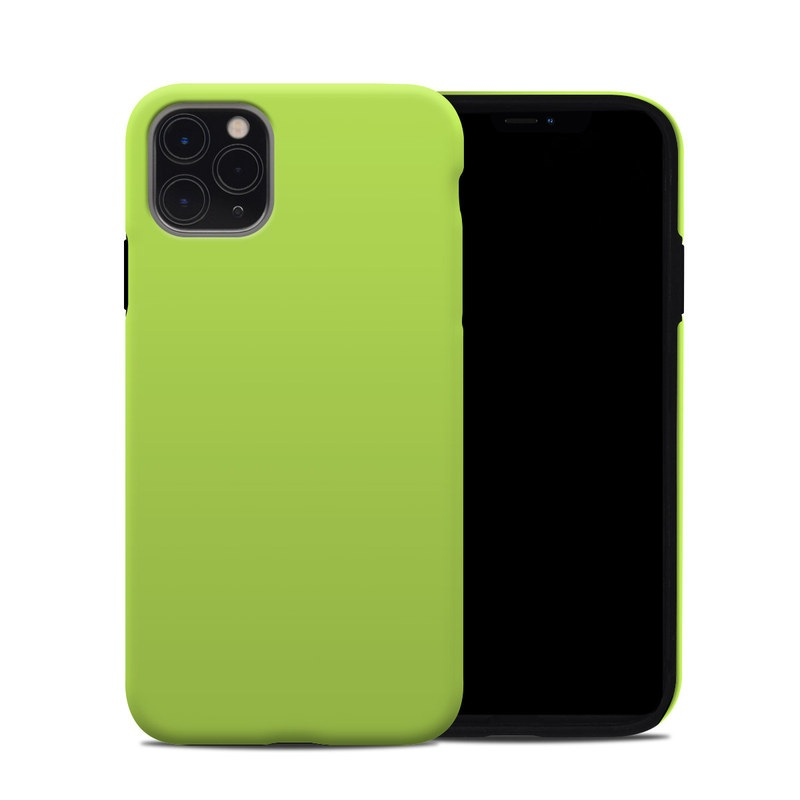 iPhone 11 Pro Max Hybrid Case design of Green, Yellow, Text, Leaf, Font, Grass with green colors