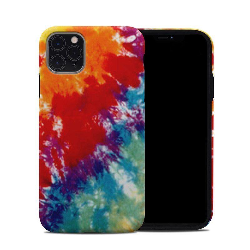 iPhone 11 Pro Max Hybrid Case design of Orange, Watercolor paint, Sky, Dye, Acrylic paint, Colorfulness, Geological phenomenon, Art, Painting, Organism with red, orange, blue, green, yellow, purple colors