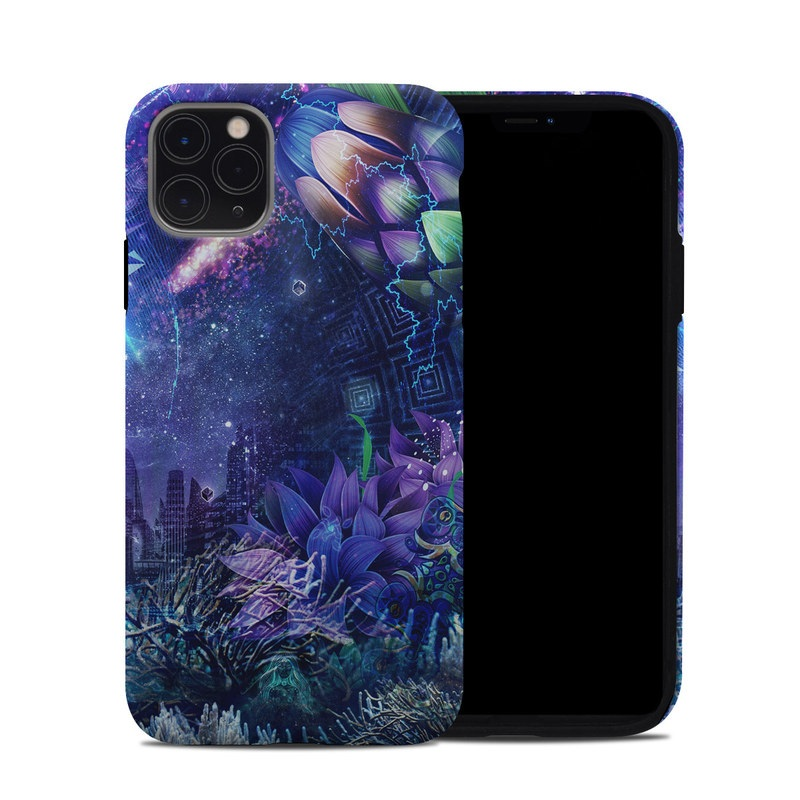 iPhone 11 Pro Max Hybrid Case design of Blue, Purple, Violet, Lavender, Majorelle blue, Psychedelic art, Electric blue, Organism, Art, Design with blue, green, purple, red, pink colors