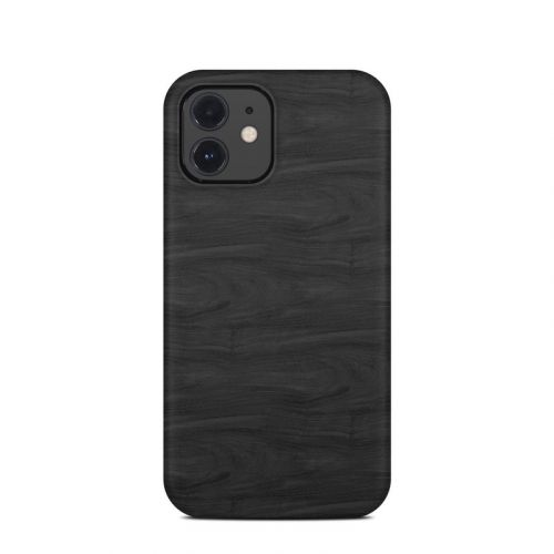 Black Woodgrain iPhone 12 Clip Case