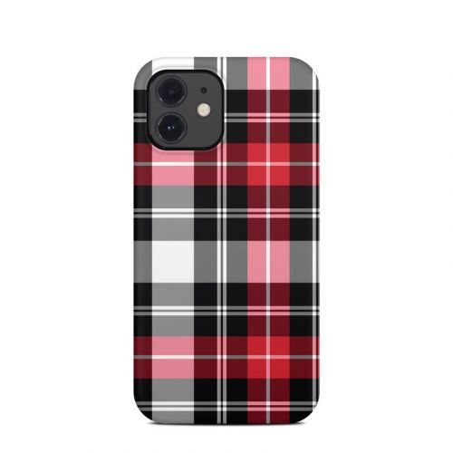Red Plaid iPhone 12 Clip Case