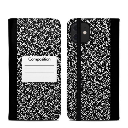 Composition Notebook iPhone 12 Folio Case