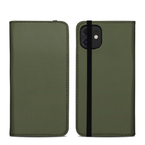 Solid State Olive Drab iPhone 12 Folio Case