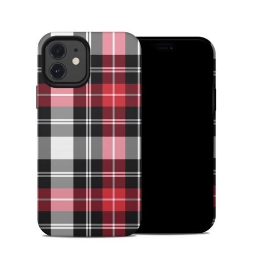 Red Plaid iPhone 12 Hybrid Case