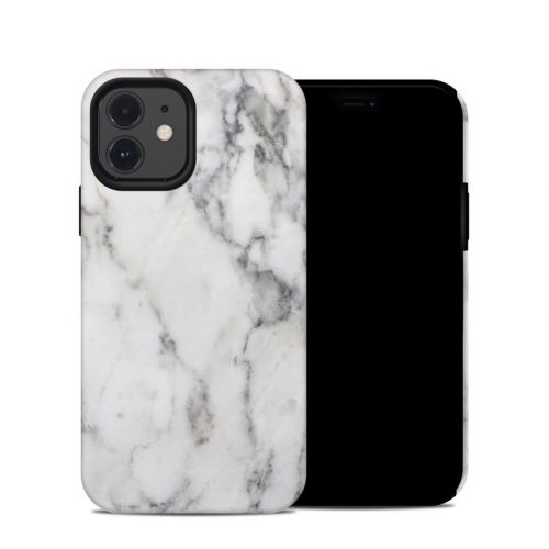 White Marble iPhone 12 Hybrid Case