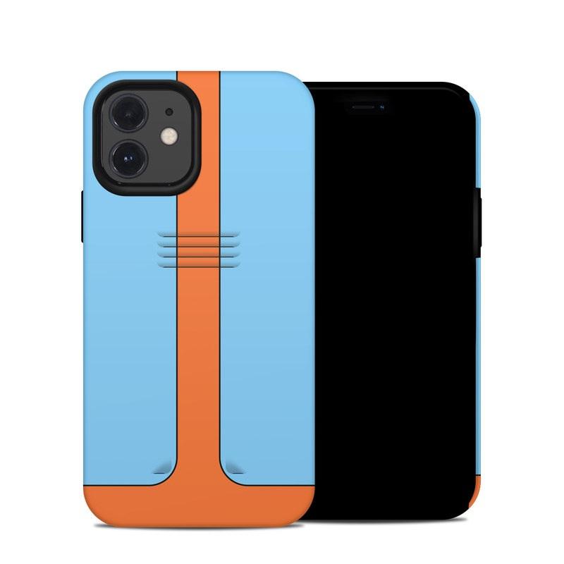 iPhone 12 Hybrid Case design of Line with blue, orange, black colors