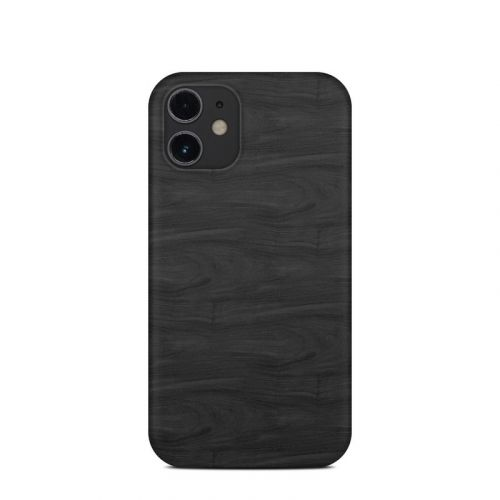 Black Woodgrain iPhone 12 mini Clip Case