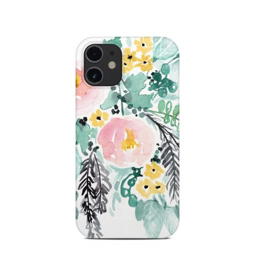 Blushed Flowers iPhone 12 mini Clip Case