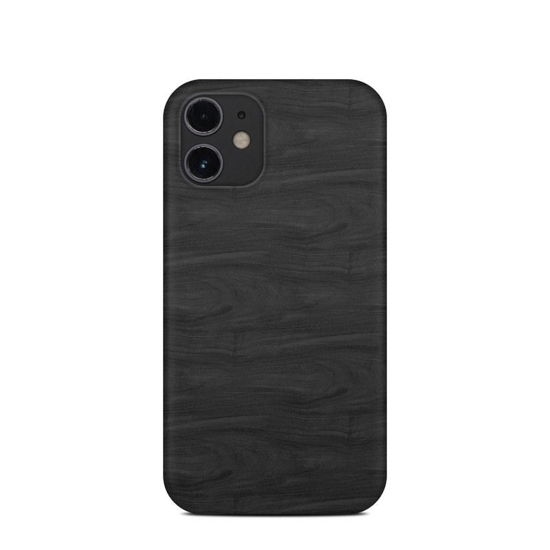 iPhone 12 mini Clip Case design of Black, Brown, Wood, Grey, Flooring, Floor, Laminate flooring, Wood flooring with black colors