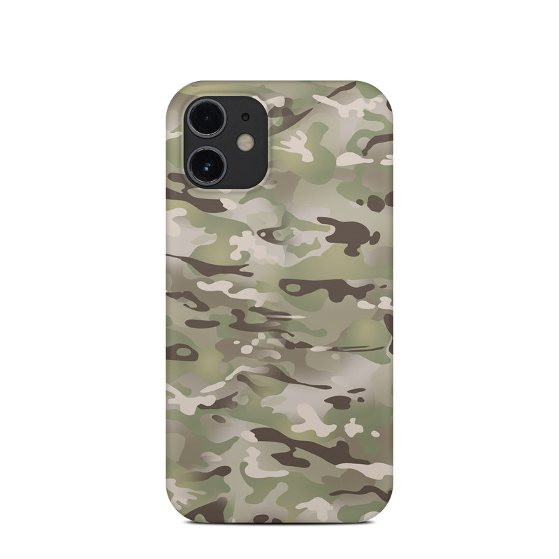 iPhone 12 mini Clip Case design of Military camouflage, Camouflage, Pattern, Clothing, Uniform, Design, Military uniform, Bed sheet with gray, green, black, red colors
