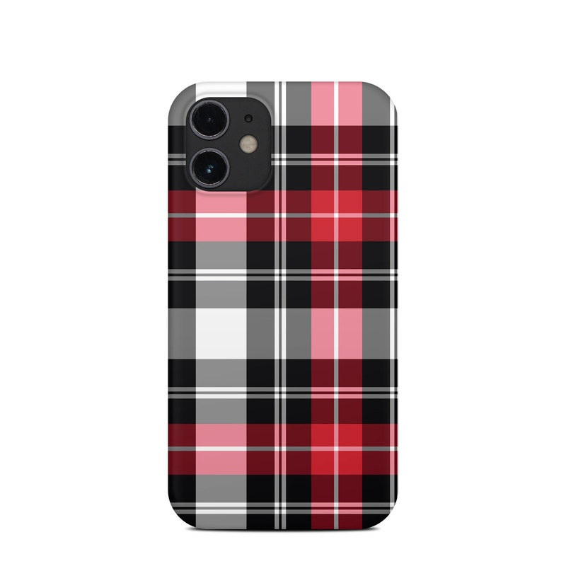 iPhone 12 mini Clip Case design of Plaid, Tartan, Pattern, Red, Textile, Design, Line, Pink, Magenta, Square with black, gray, pink, red, white colors