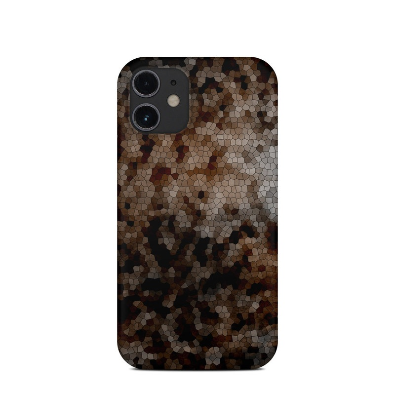 iPhone 12 mini Clip Case design of Brown, Design, Soil, Pattern, Rock, Rust, Granite, Metal with black, white, gray, brown colors